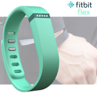 Fitbit Flex Fitness Activity Tracker Pedometer - Teal - Small & Large Straps