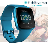 Fitbit Versa Lite Health & Fitness Smartwatch + Integrated Heart Rate - Blue