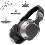 Skullcandy Hesh 2 Bluetooth Wireless Over-Ear Headphones - Silver/Black/Chrome