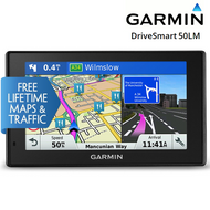 "Garmin DriveSmart 50LM 5""GPS Sat Nav - Full Europe Lifetime Maps & Smart Traffic"