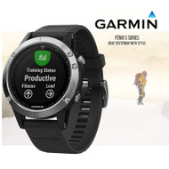 Garmin Fenix 5 Multisport GPS Sports Watch Integrated HRM - Silver (Garmin Newly Overhauled)