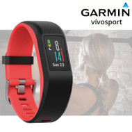 Garmin Vivosport Fitness Activity Tracker with Integrated HRM - Fuchsia / Small (Garmin Newly Overhauled)