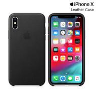 Genuine Apple Natural Leather iPhone X / XS Protective Slimline Case - Black