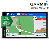 "Garmin Camper 770LMT-D 6.95"" Sat Nav - Europe � LT Maps & D Traffic, BT & Wi-Fi"