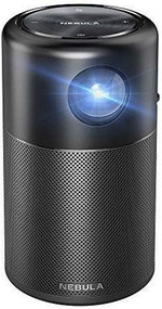 "Anker Nebula Capsule Mini Smart Portable Wi-Fi Projector  360� Speaker, 100"" picture, Android 7.1"