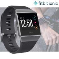 Fitbit Ionic GPS Fitness Smartwatch - HRM & Swim Tracking - Music - Black / Grey