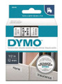DYMO Genuine D1 Label Cassette Tape 12mm x 7m, Black on White