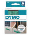 DYMO Genuine D1 Label Cassette Tape 12mm x 7M, Black on Green