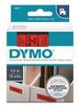 DYMO Genuine D1 Label Cassette Tape 12mm x 7M, Black on Red