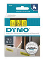 DYMO Genuine D1 Label Cassette Tape 12mm x 7M, Black on Yellow