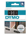 DYMO Genuine D1 Label Cassette Tape 12mm x 7M, White on Black