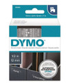 DYMO Genuine D1 Label Cassette Tape 12mm x 7M, White on Clear