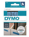 DYMO Genuine D1 Label Cassette Tape 12mm x 7M,Black on Blue