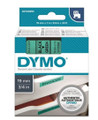 DYMO Genuine D1 Label Cassette Tape 19mm x 7M, Black on Green