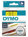DYMO Genuine D1 Label Cassette Tape 19mm x 7M, Black on Yellow