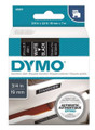 DYMO Genuine D1 Label Cassette Tape 19mm x 7M, White on Black