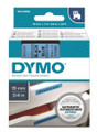 DYMO Genuine D1 Label Cassette Tape 19mm x 7M, Black on Blue
