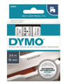 DYMO Genuine D1 Label Cassette Tape 19mm x 7M, Black on Clear