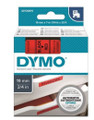 DYMO Genuine D1 Label Cassette Tape 19mm x 7M, Black on Red