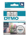 DYMO Genuine D1 Label Cassette Tape 24mm x 7M, Black on Clear