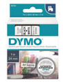 DYMO Genuine D1 Label Cassette Tape 24mm x 7M, Black on White