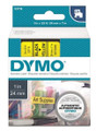 DYMO Genuine D1 Label Cassette Tape 24mm x 7M, Black on Yellow