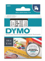 DYMO Genuine D1 Label Cassette Tape 6mm x 7M, Black on Clear