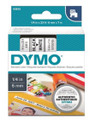 DYMO Genuine D1 Label Cassette Tape 6mm x 7M, Black on White