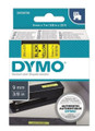 DYMO Genuine D1 Label Cassette Tape 9mm x 7M, Black on Yellow