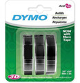 DYMO Genuine Embossing Label Tape. 3PK, 9mm X 3m. Use Them Indoors Or Model: 1741670