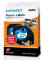 DYMO Genuine LetraTag Labeller Plastic 2PK Tape. 12mm x 4M White