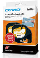 DYMO Genuine LetraTag Labeller Iron-On 2PK Tape. 12mm x 2M