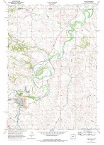 7.5' Topo Map of the Acme, WY Quadrangle