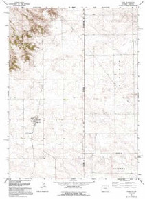 7.5' Topo Map of the Albin, WY Quadrangle