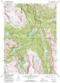 7.5' Topo Map of the Alpine Lake, WY Quadrangle