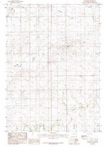7.5' Topo Map of the Alta Creek, WY Quadrangle