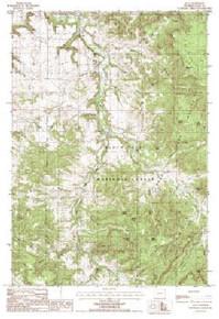 7.5' Topo Map of the Alva, WY Quadrangle