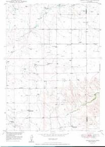 7.5' Topo Map of the Amend Ranch, WY Quadrangle