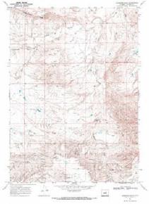 7.5' Topo Map of the Anderson Draw, WY Quadrangle