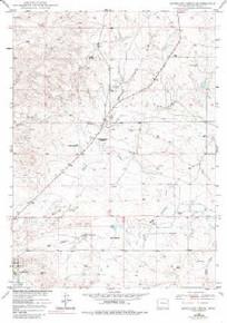 7.5' Topo Map of the Antelope Creek, WY Quadrangle