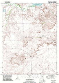 7.5' Topo Map of the Antelope Gap, WY Quadrangle