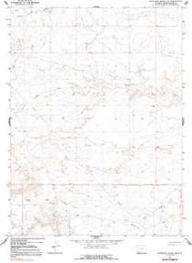 7.5' Topo Map of the Antelope Knoll NE, WY Quadrangle