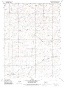 7.5' Topo Map of the Antelope Reservoir, WY Quadrangle
