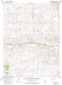 7.5' Topo Map of the Antelope Wash, WY Quadrangle