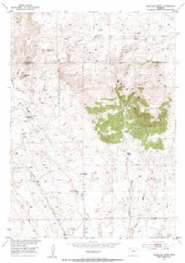 7.5' Topo Map of the Arapahoe Butte, WY Quadrangle