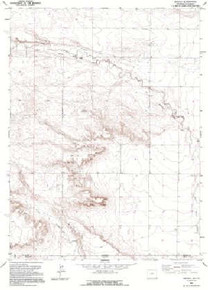 7.5' Topo Map of the Arcola, WY Quadrangle