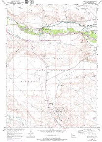 7.5' Topo Map of the Argo Butte, WY Quadrangle