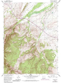 7.5' Topo Map of the Arlington, WY Quadrangle