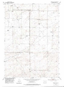 7.5' Topo Map of the Arminto SW, WY Quadrangle