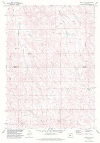 7.5' Topo Map of the Arpan Butte, WY Quadrangle